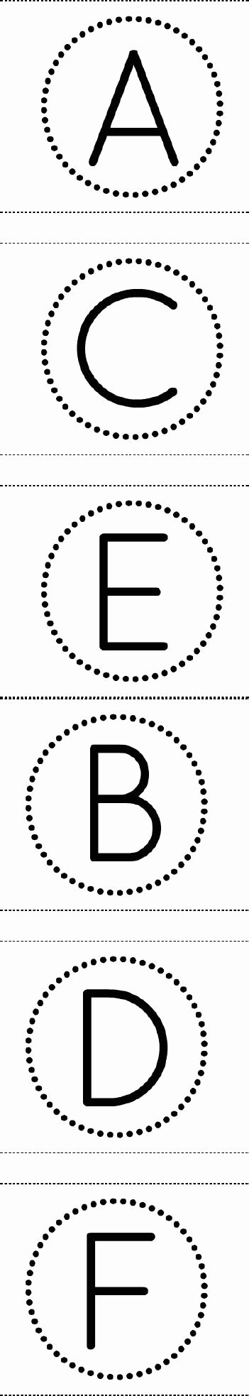 Circle Banner Template Elegant Free Printable Circle Banner Alphabet for Making