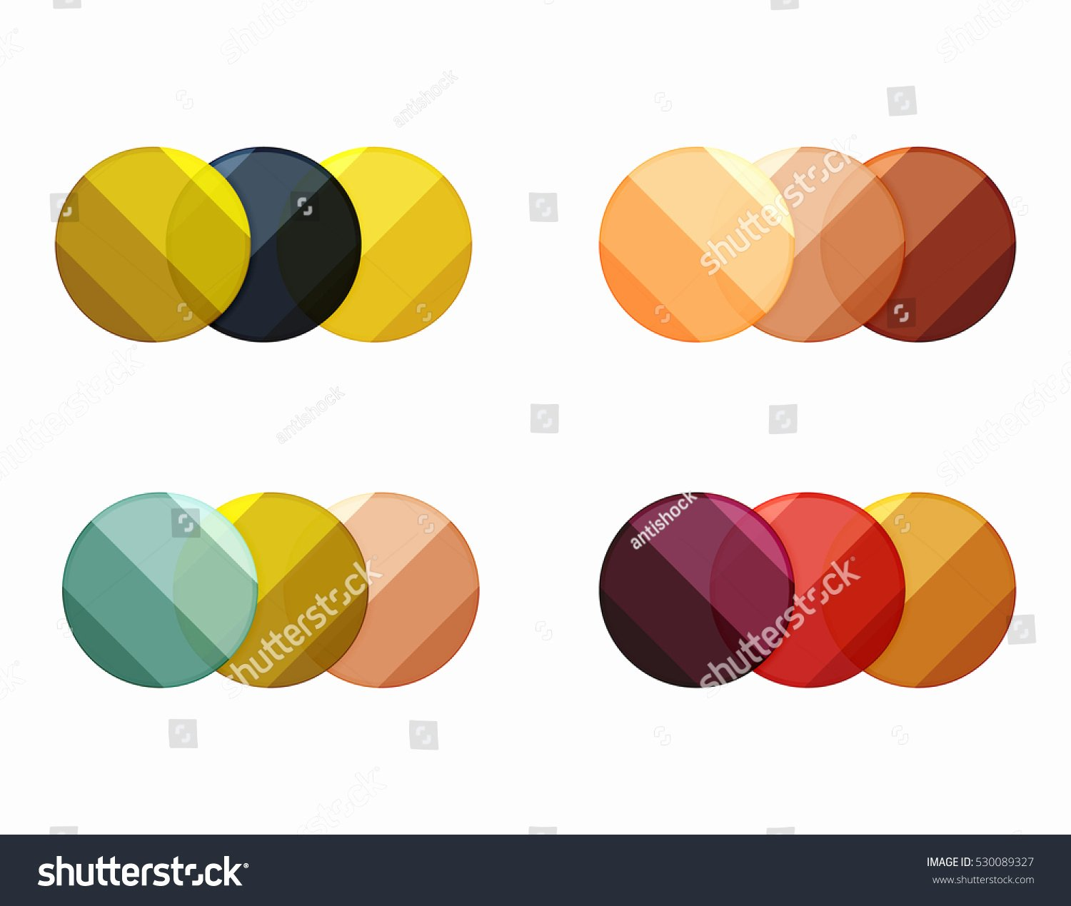 Circle Banner Template Fresh Vector Circle Banners Illustration Abstract Geometric