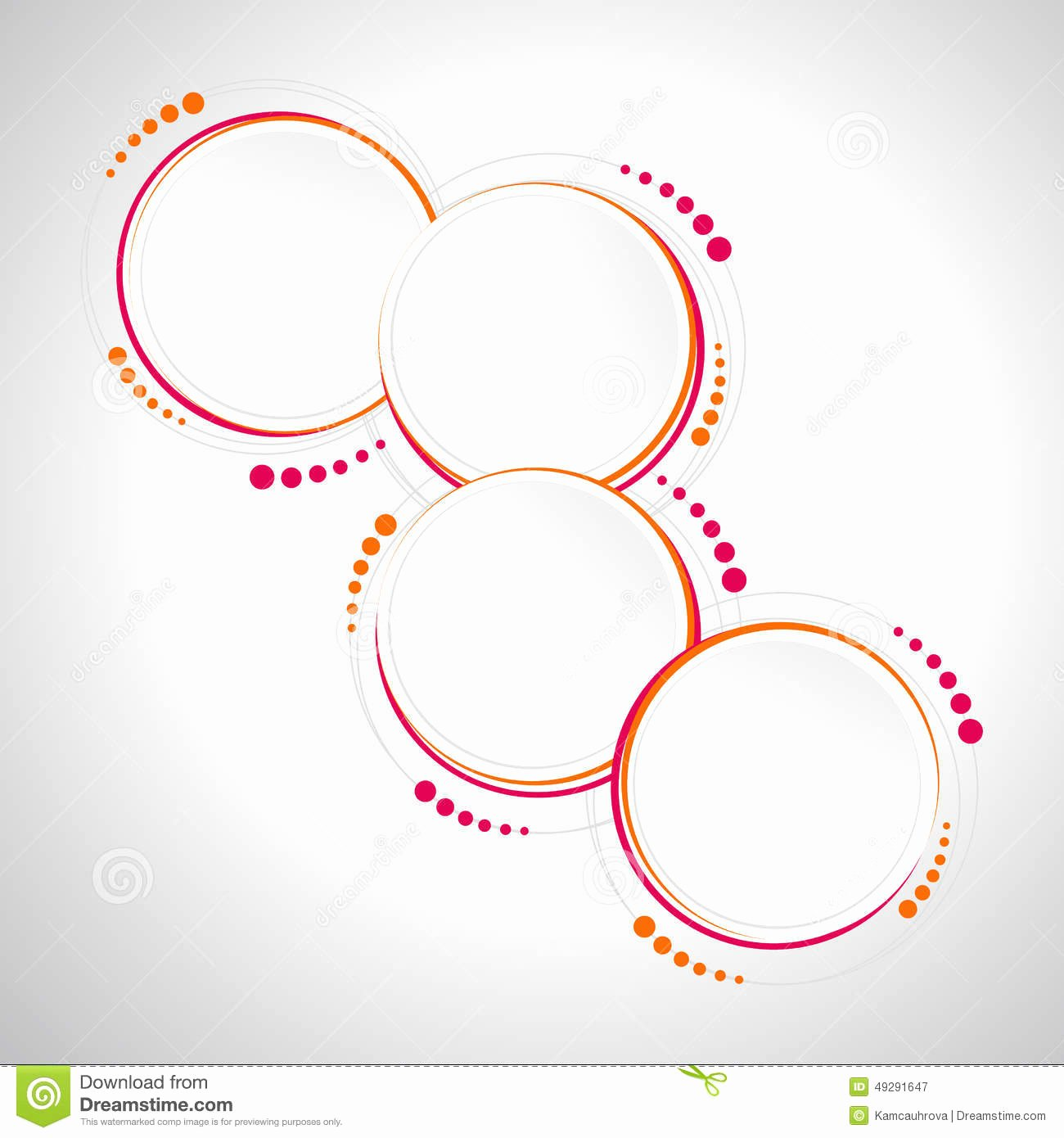 Circle Banner Template Inspirational Abstract Circle Template Infographics Banner Print