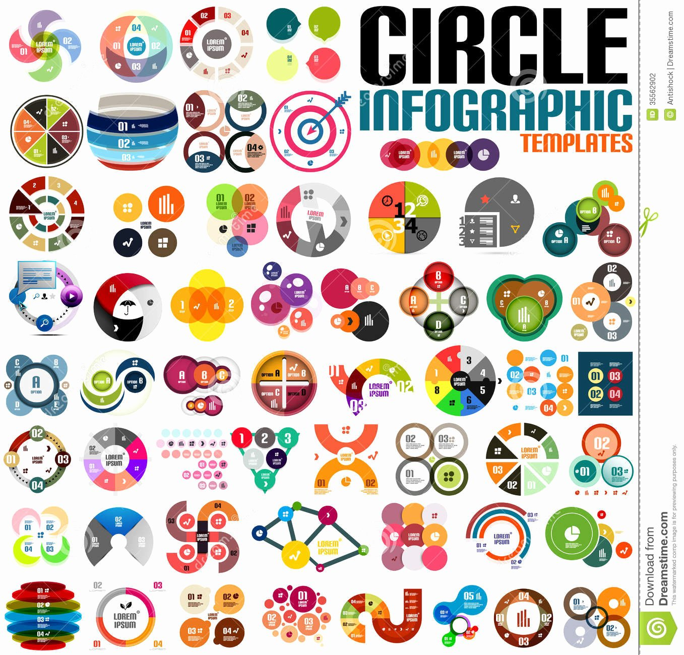 Circle Banner Template Lovely Huge Modern Circle Infographic Design Template Set Stock