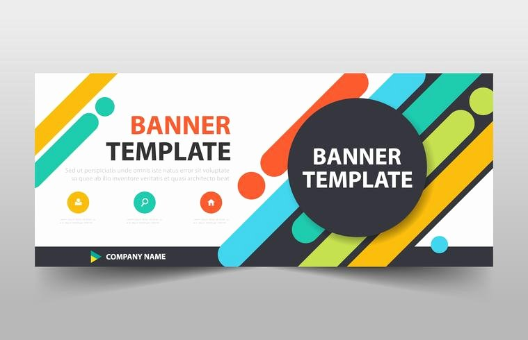 Circle Banner Template Luxury Colorful Circle Banner Template Horizontal Advertising