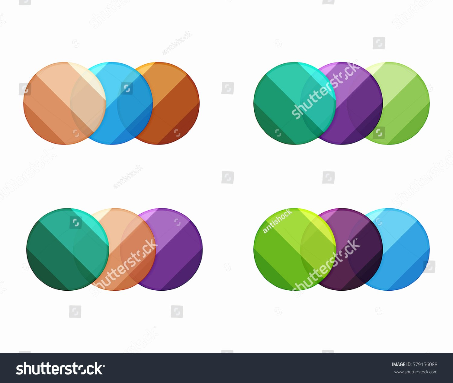 Circle Banner Template New Vector Circle Banners Illustration Abstract Geometric