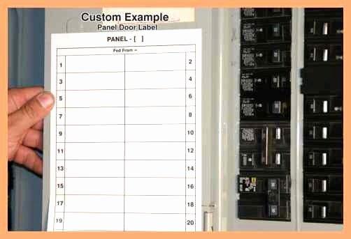 Circuit Breaker Panel Label Template Unique Circuit Chart Template Excel Free Printable Circuit