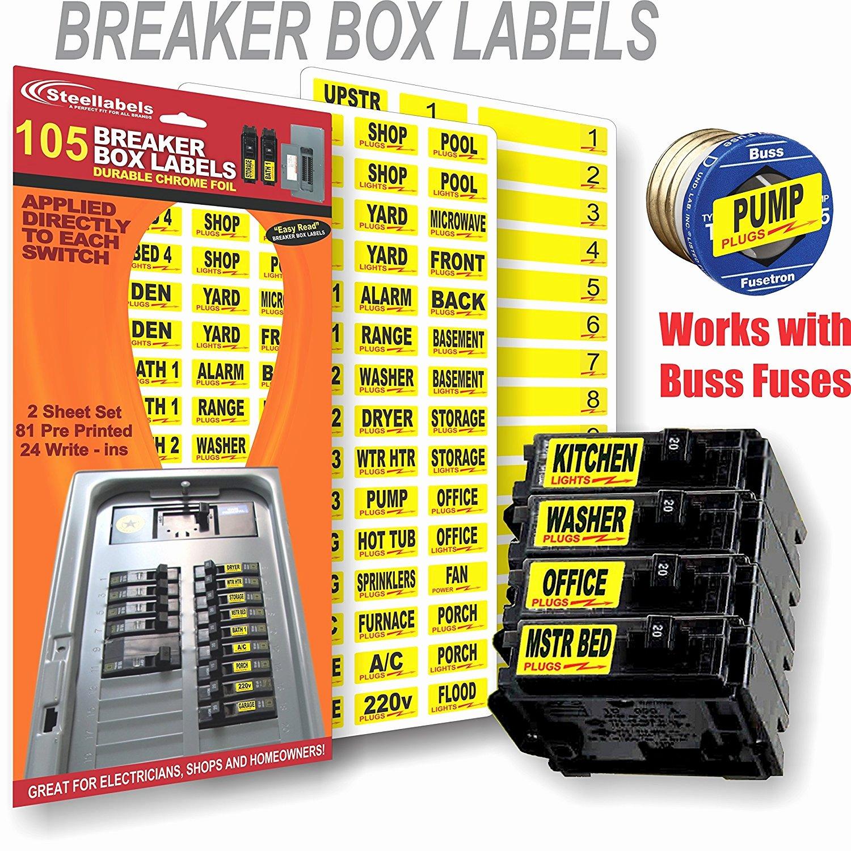 Circuit Breaker Panel Labels Beautiful Breaker Box Labels