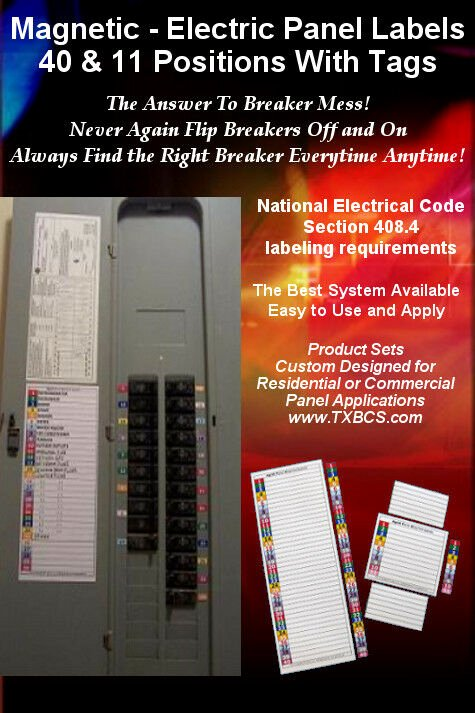 Circuit Breaker Panel Labels Best Of Magnetic and Color Coded 40 & 11 Circuit Breaker Box