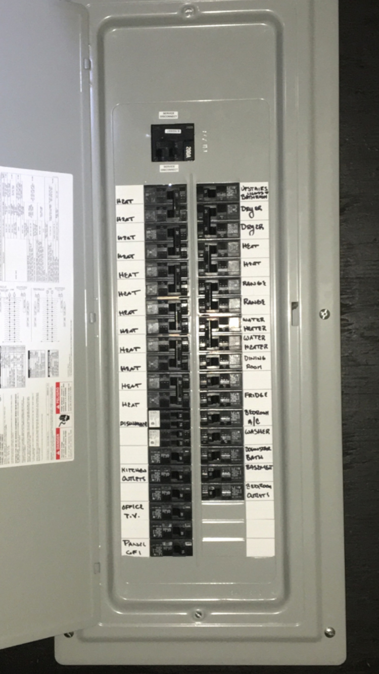 Circuit Breaker Panel Labels Inspirational Labeling Your Electrical Panel