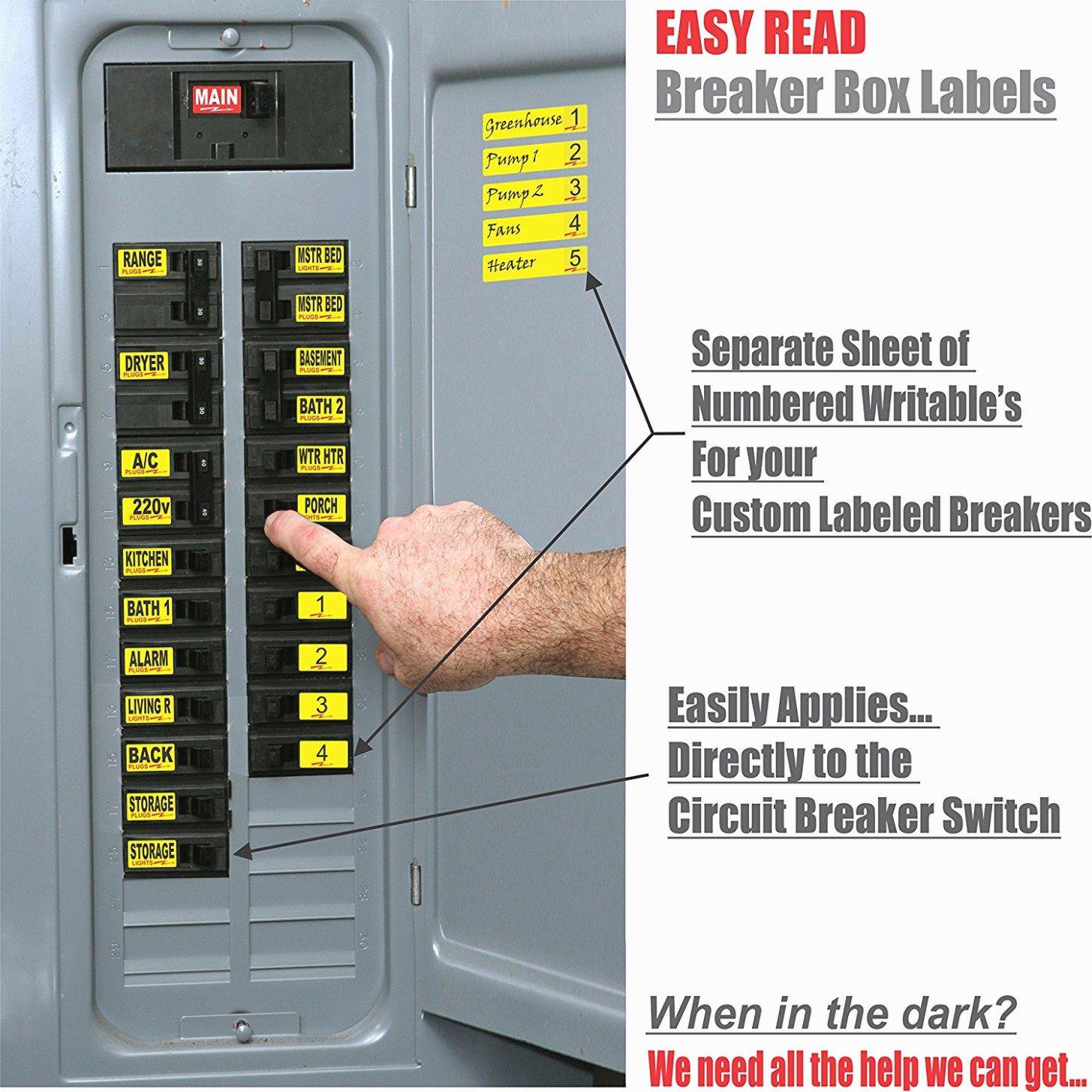 Circuit Breaker Panel Labels Lovely 15 Various Ways to Do Breaker