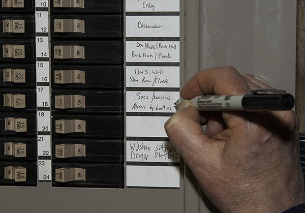Circuit Breaker Panel Labels Luxury Home Renovation Rewiring A Vintage Home Indiana Landmarks
