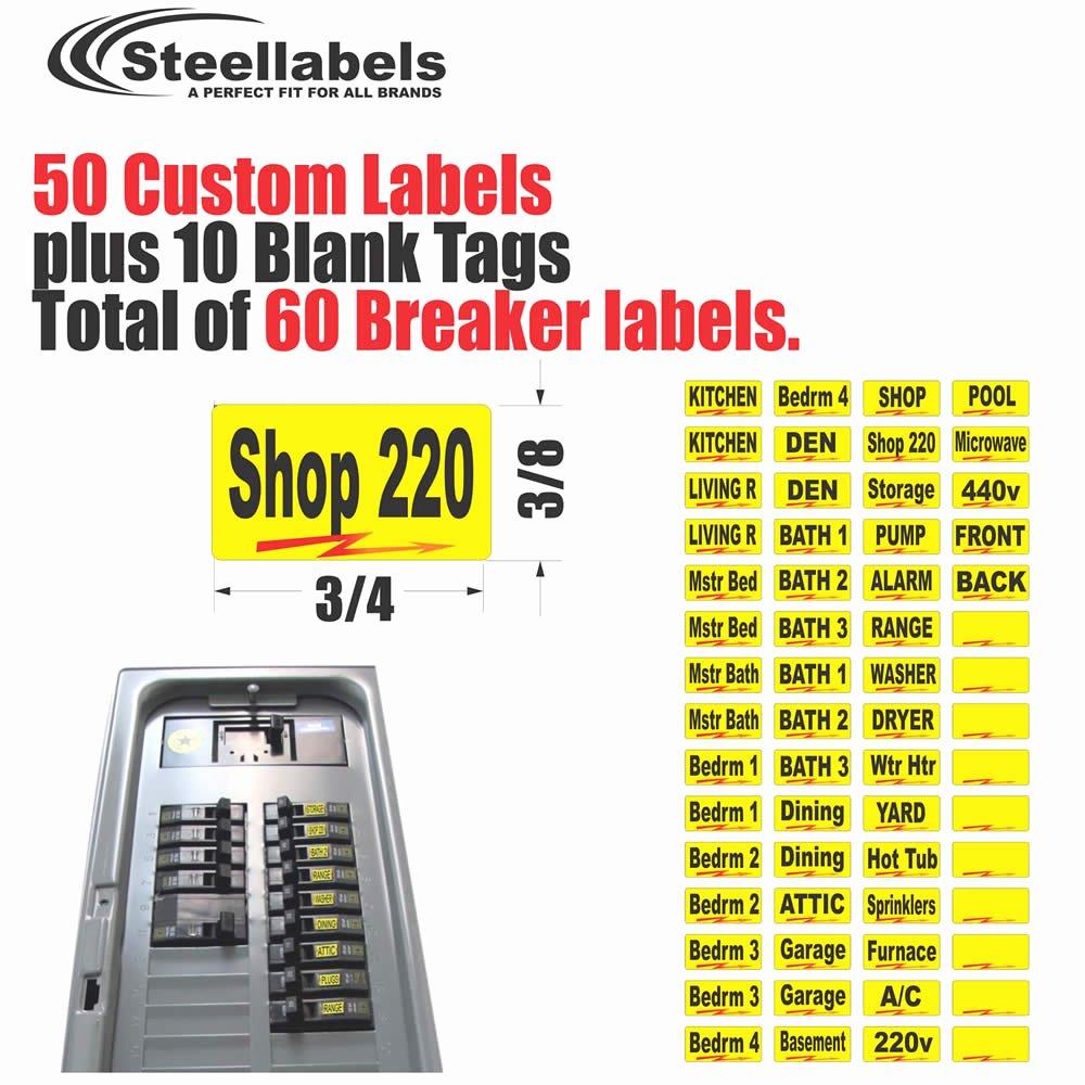 Circuit Breaker Panel Labels New Breaker Box Labels