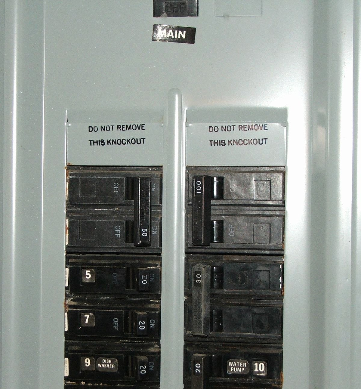 Circuit Breaker Panel Labels Unique Distribution Board