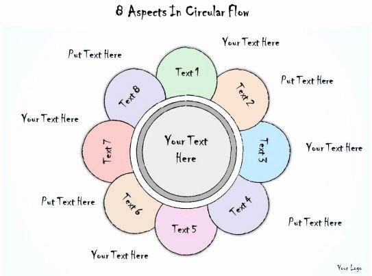 Circular Flow Diagram Template Elegant 1113 Business Ppt Diagram 8 aspects In Circular Flow