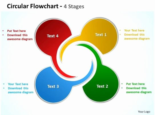 Circular Flow Diagram Template Elegant Circular Flowchart 4 Stages Powerpoint Templates Graphics