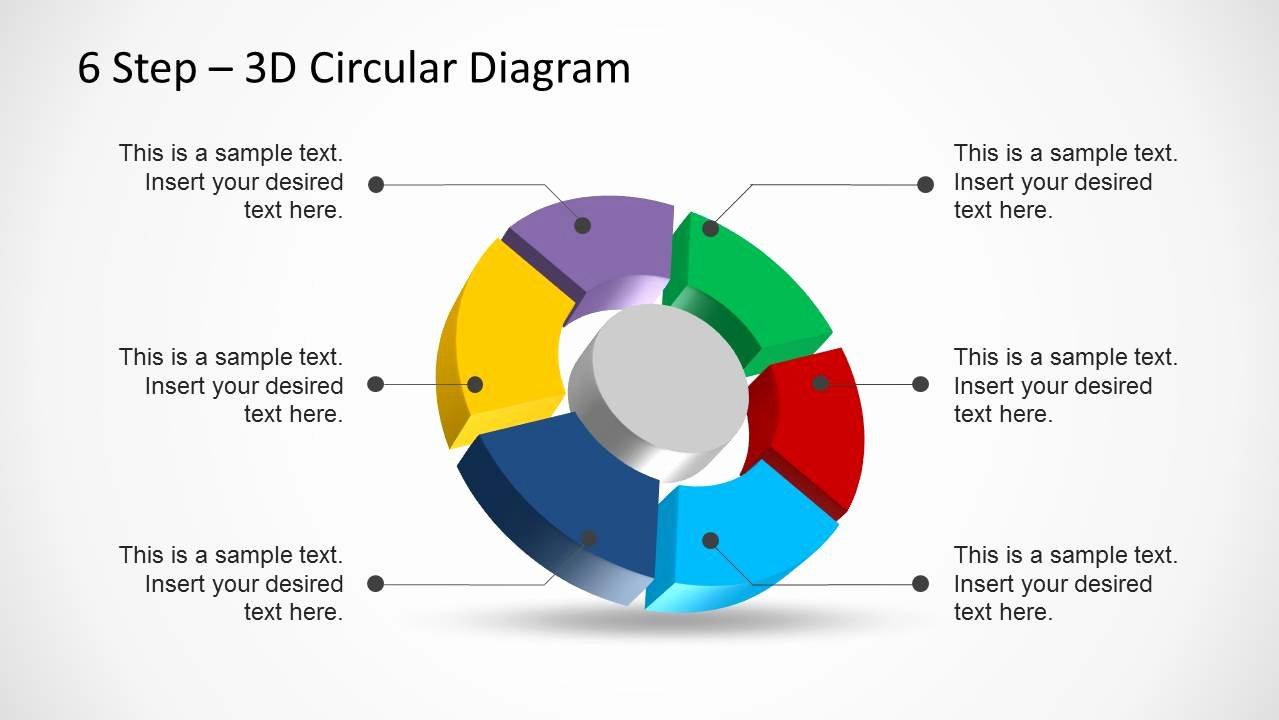 Circular Flow Diagram Template Fresh 6 Step 3d Circular Diagram Template for Powerpoint