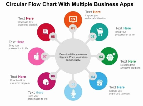 Circular Flow Diagram Template Lovely Circular Flow Chart with Multiple Business Apps Flat