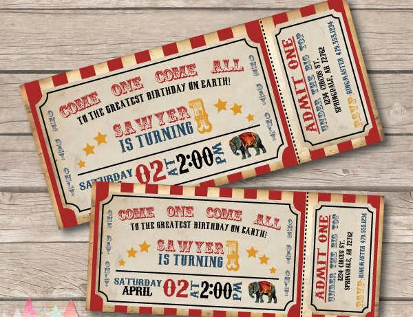 Circus Ticket Invitation Best Of 9 Carnival Invitation Samples Free Psd Ai Vector Eps
