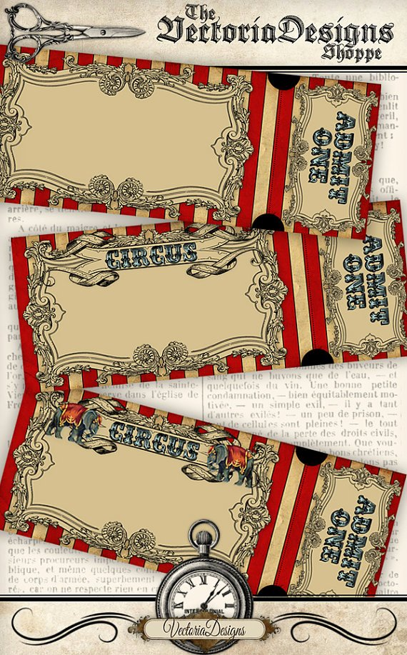 Circus Ticket Invitation Best Of Circus Invitation Tickets Circus Party Printable Paper