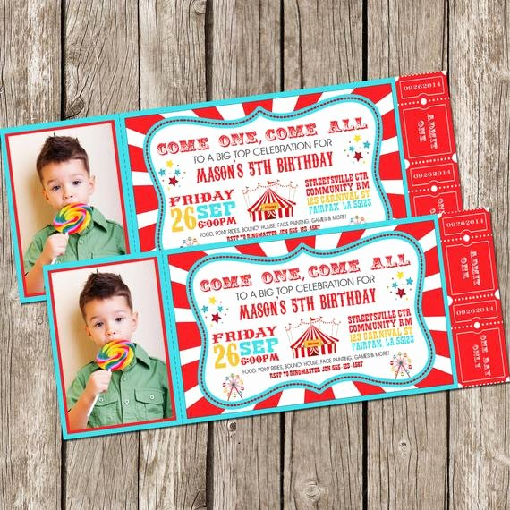 Circus Ticket Invitation Fresh Vintage Circus Carnival Invitation Ticket Invitation