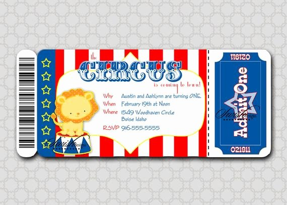 Circus Ticket Invitation Inspirational Circus Birthday Invitation Boarding Pass Invitation Ticket