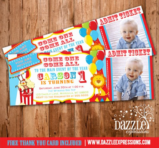 Circus Ticket Invitation Unique Birthday Ticket Invitations Page 3