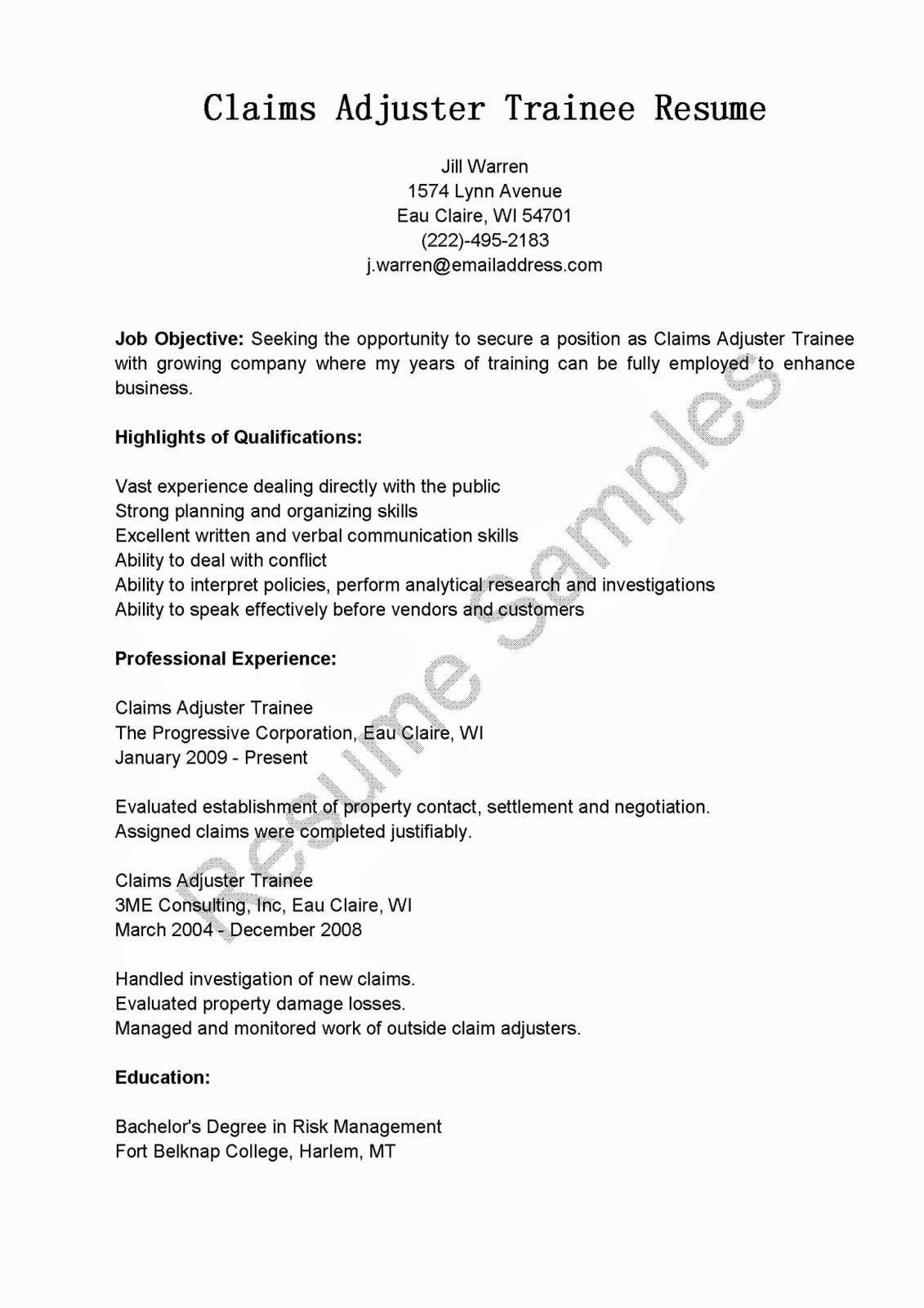 Claims Adjuster Resume Sample Luxury 21 Elegant Claims Adjuster Resume Hs U – Resume Samples