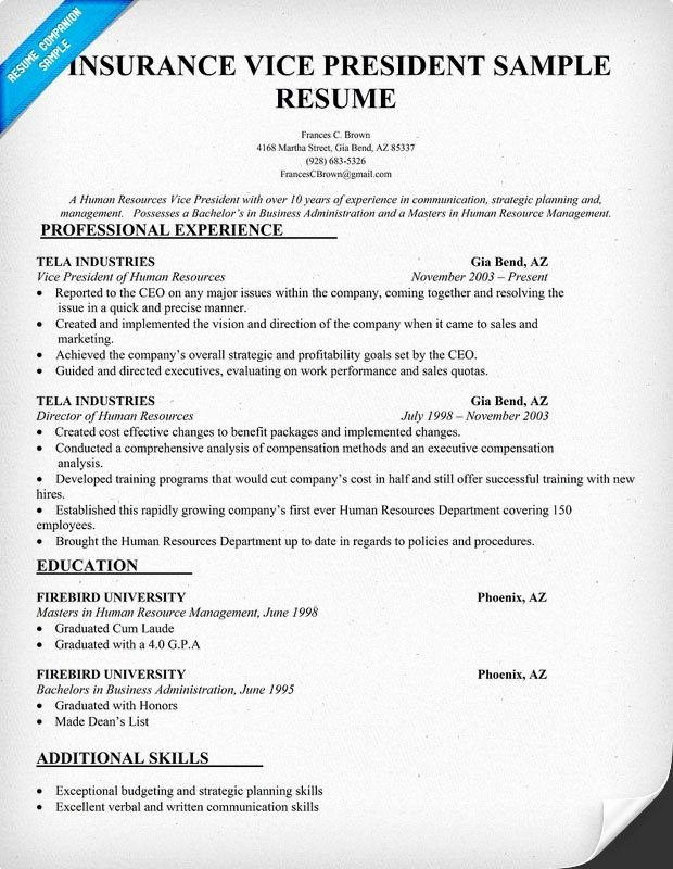 Claims Adjuster Resume Sample New Insurance Vice President Resume Sample Resume Panion