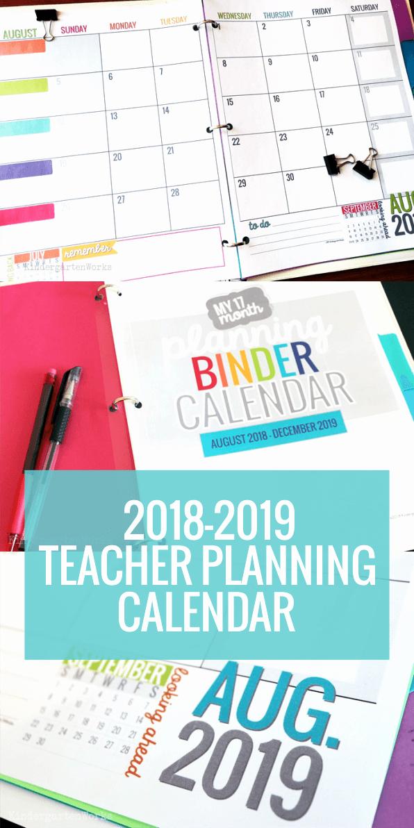 Classroom Calendar Template Inspirational Printable 2017 2018 Calendar Template
