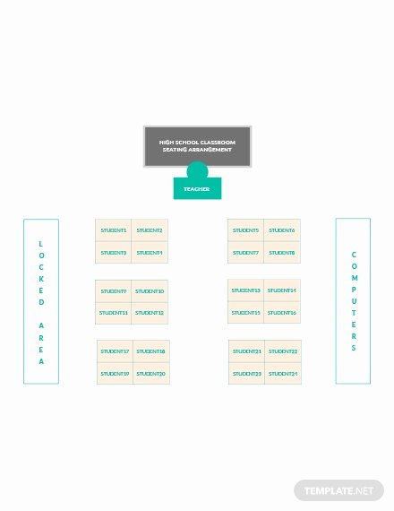 Classroom Seating Chart Template Microsoft Word Elegant Free Horseshoe Classroom Seating Arrangements Template In