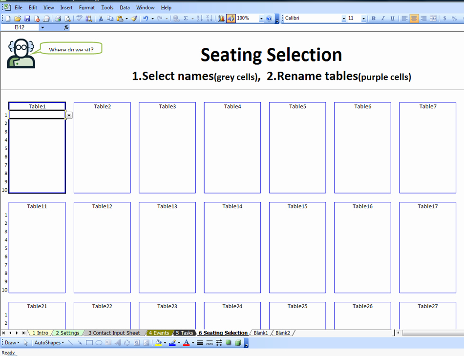 Classroom Seating Chart Template Microsoft Word Inspirational Excel Spreadsheets Help May 2014