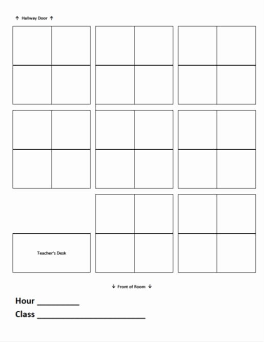 Classroom Seating Chart Template Microsoft Word Lovely Seating Charts