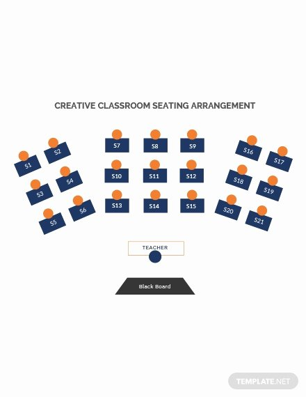 Classroom Seating Chart Template Microsoft Word Luxury Free Horseshoe Classroom Seating Arrangements Template In