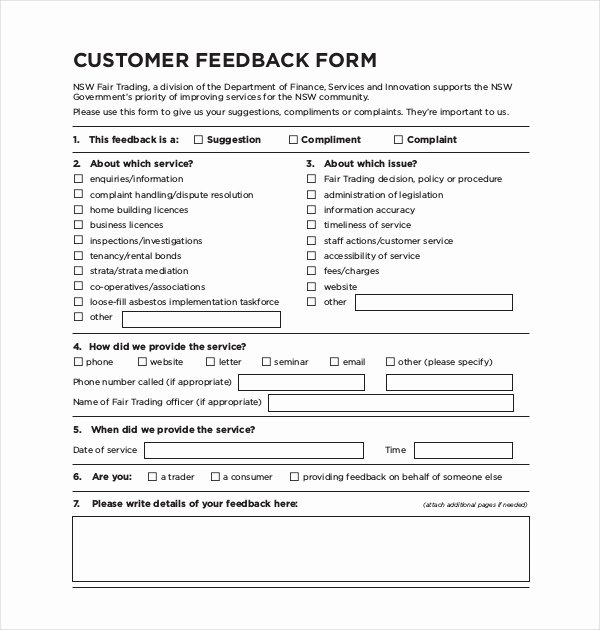 Client Contact form Fresh Sample Customer Feedback form 22 Free Documents In Pdf