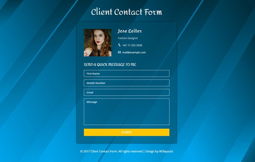 Client Contact form New Multi Login & Signup form A Flat Responsive Wid Template