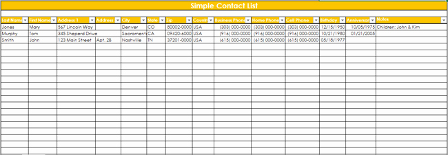 Client Database Template Lovely 9 Customer Contact List Templates In Word and Excel