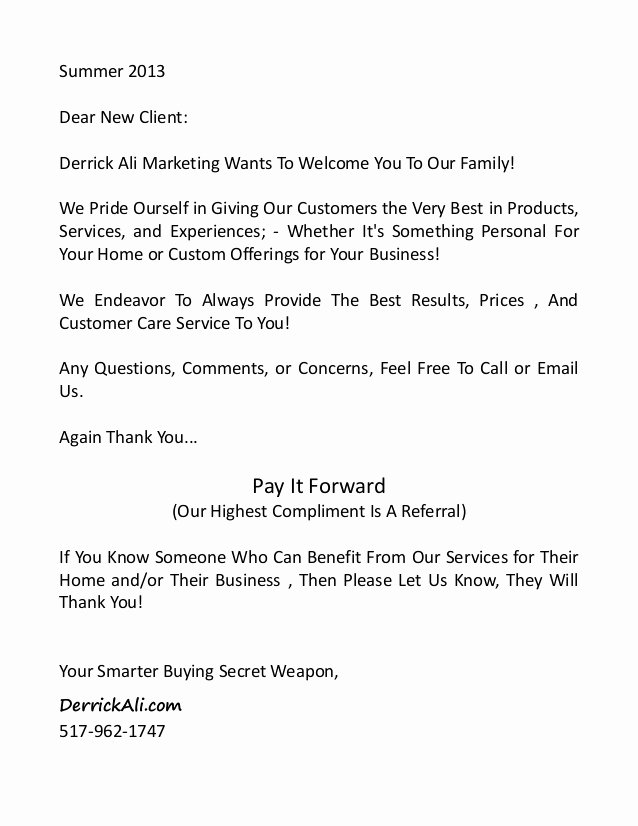 Client Notes Template Beautiful New Client Infopackage and Wel E Letter