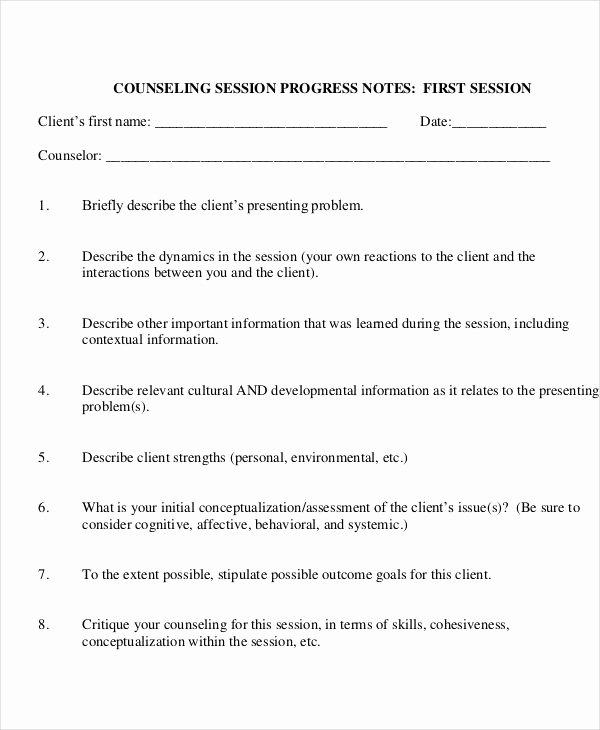 Client Notes Template Elegant 19 Progress Note Examples & Samples Pdf Doc