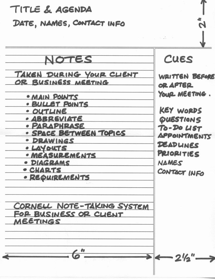 Client Notes Template Unique How to Use the Cornell Note Taking System Effectively for