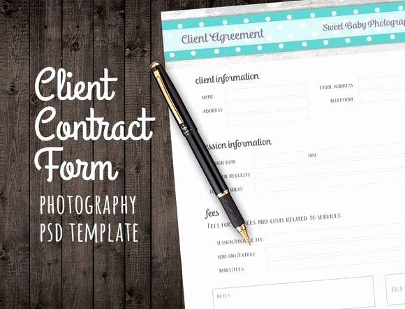 Client Print Release form Template Fresh Client Agreement Contract form Psd by Studio29 On Creative