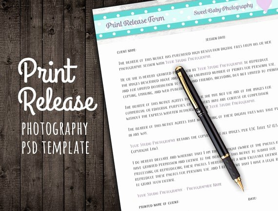 Client Print Release form Template New Graphy Template Set Invoice Price Sheet Client