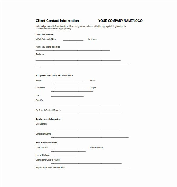 Client Profile Template Word Best Of 24 Fact Sheet Templates Pdf Doc