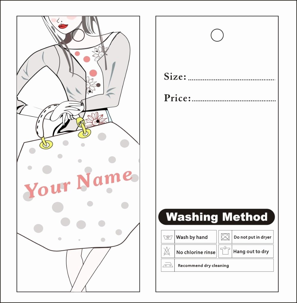 Clothing Hang Tag Template Beautiful Aliexpress Buy Custom Print Hang Tags Price Label