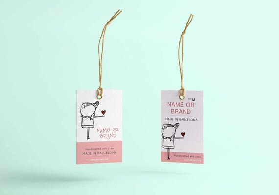 Clothing Hang Tag Template Beautiful Hang Tag Custom Clothing Label Custom Clothing Labels