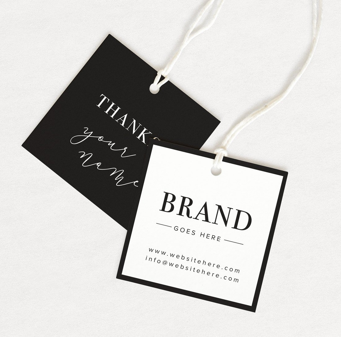 Clothing Hang Tag Template Best Of Thank You Tag Product Thank You Custom Hang Tag Custom