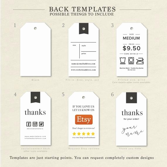 Clothing Hang Tag Template Luxury Clothing Size Label Size Tags Clothing Tags Hang Tag