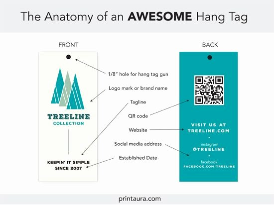 Clothing Label Template Fresh Anatomy Of An Awesome Hang Tag