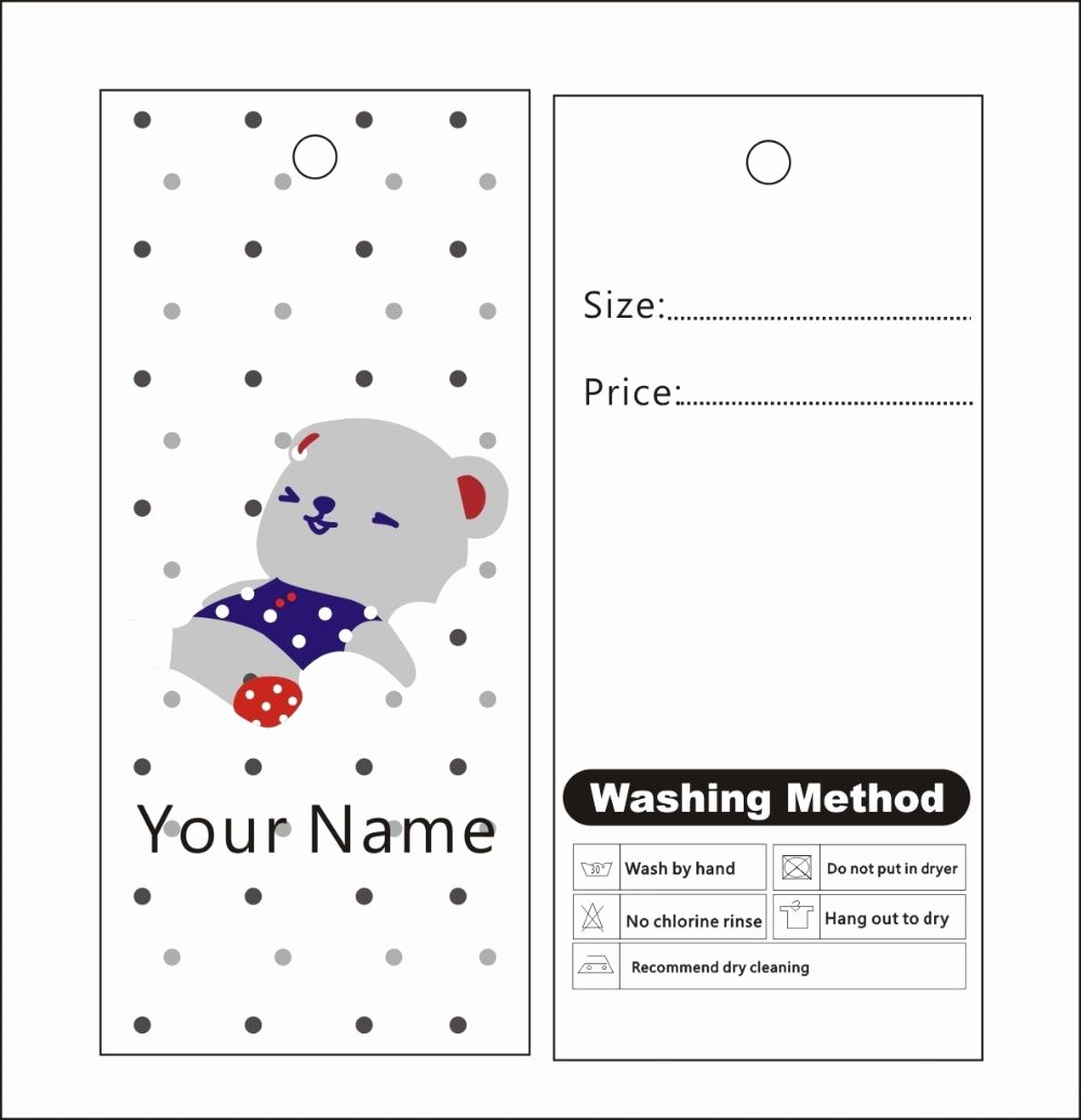Clothing Label Template Luxury 500pcs Custom Print Winter Hang Tags Price Label Template