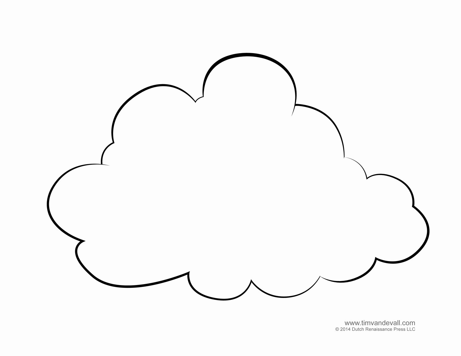 Cloud Template Printable Awesome Tim Van De Vall Ics & Printables for Kids