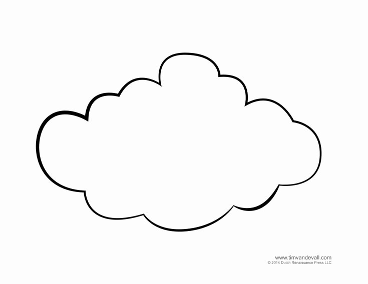"Cloud Template Printable Best Of Ghayn ""غ"" Ghayma Cloud غيمة"