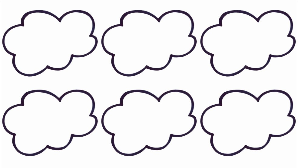 Cloud Template Printable Elegant Cloud Template Printable