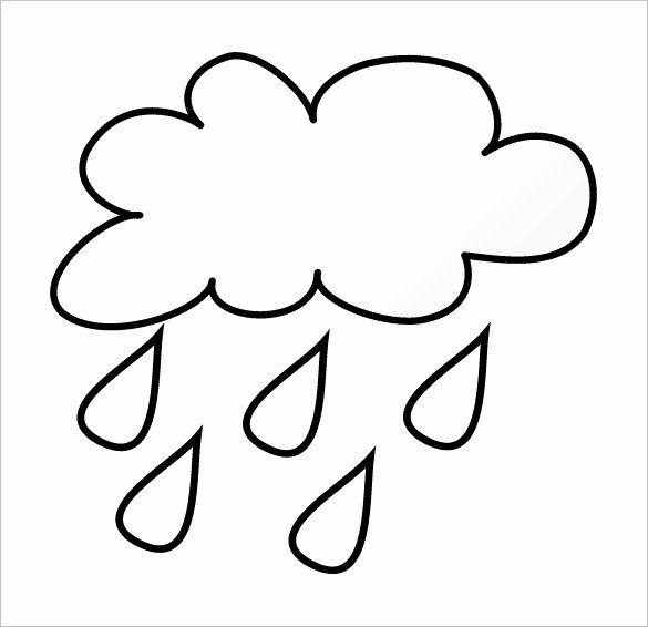 Cloud Template Printable Elegant Rain Outline Reverse Search