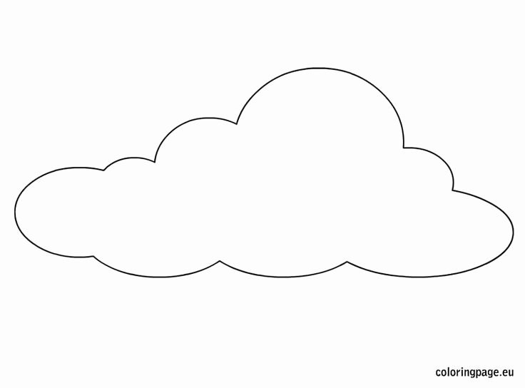Cloud Template Printable Fresh Best 25 Cloud Template Ideas On Pinterest